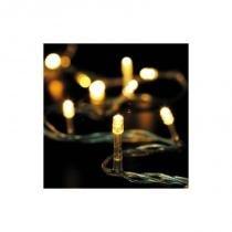 Pisca Pisca 100 LEDS 9m 8 Funções 127V Branco Quente - Wincy -