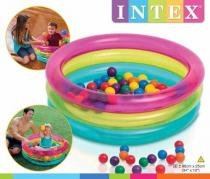 Piscina de bolinhas inflavel mult color infantil bebe intex -