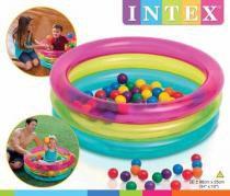 Piscina de bolinhas inflavel mult color infantil bebe intex - Intex