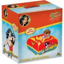 Piscina de bolinhas mulher maravilha super hero girls com 100 bolinhas e bolsa de transporte complet - Gimp