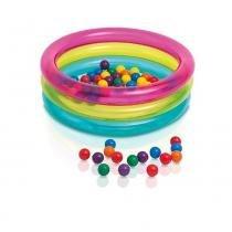 Piscina de bolinhas multi-color - intex - Intex