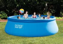 Piscina Easy Set 14.141 L (c/ Bomba Filtro 127V, Escada, Proteção de fundo, capa para piscina  DVD de instrução de montagem ) - Intex