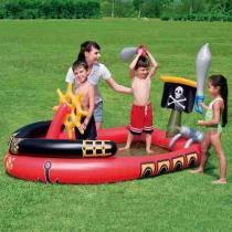 Piscina Inflável Infantil Barco Pirata Bestway Play Center 53041 - Bestway