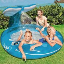 Piscina Inflável Infantil Spray Baleia 208 Litros - Intex -