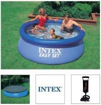 Piscina Intex Inflável 2419 Litros Com Capa Bomba De Inflar - Intex