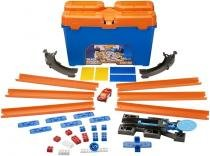 Pista Hot Wheels Balde Kit Completo Track Builder 35 Pçs Mattel Dww95 81103 -
