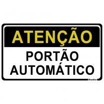 Placa Atenção Portão Automático 20x30cm Poliestireno 250BV Sinalize - Sinalize