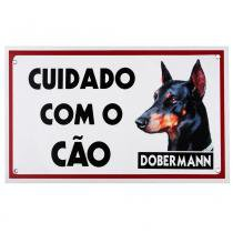 Placa de advertência dobermann - Maschi-dog