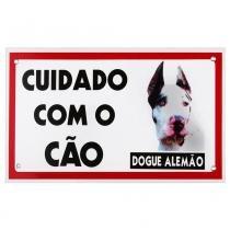 Placa de advertência dogue alemão - Maschi-dog