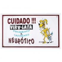 Placa de advertência neurótico - Maschi-dog