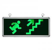 Placa de Sinalização para Escada de Emergência À Direita de LED UN-03 110V - UNIK Iluminação