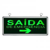 Placa de Sinalização para Saída de Emergência Á Direita de LED UN-06 110V - UNIK Iluminação