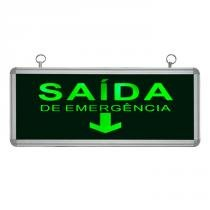 Placa de Sinalização para Saída de Emergência de LED UN-16 110V - UNIK Iluminação