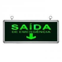 Placa de Sinalização para Saída de Emergência de LED UN-16 220V - UNIK Iluminação