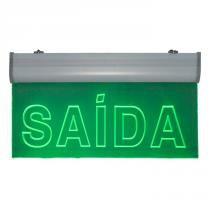 Placa de Sinalização para Saída de LED AC-15 220V - UNIK Iluminação