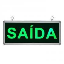 Placa de Sinalização para Saída de LED UN-15 110V - UNIK Iluminação