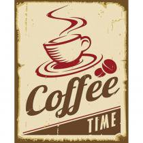 Placa Decorativa 24,5X19,5cm Coffee Time LPMC-053 - Litocart - Litocart