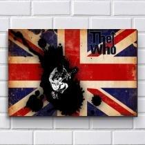 Placa Decorativa em MDF com 20x30cm - Modelo P192 - The Who - R+ Adesivos