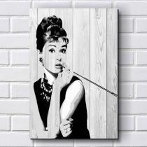 Placa Decorativa em MDF com 20x30cm - Modelo P228 - Audrey Hepburn - R+ Adesivos