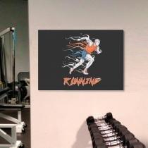 Placa decorativa horizontal em acrílico  gym - 0,30 x 0,20 - running - Duhelu
