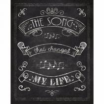 Placa Decorativa Litoarte DHPM-225 24x19cm The Song That Changed -