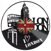 Placa Decorativa Litocart LPDV-017 30x30cm Disco Vinil London -