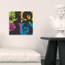 Placa decorativa quadrada em psai  música - 0,20 x 0,20 - beatles - Duhelu