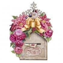 Placa em MDF 3D Litoarte DHN-003 35x28cm Natal Caixa de Correio - Litoarte