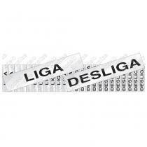 Placa Etiquetas de Liga/Desliga 5x25cm Alumínio 100CQ Sinalize -