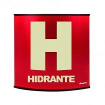 Placa fotoluminescente calandrada em alumínio 14 x 14 cm Hidrante - Sinalize