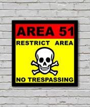 Placa Geek: Area 51 - LEGIAO NERD