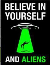 Placa Geek: Believe in aliens - DIVERSOS