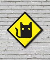 Placa Geek: Cat - LEGIAO NERD