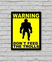 Placa Geek: Dont Feed the Trolls - LEGIAO NERD