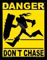 Placa Geek: League of Legends Danger Dont Chase - LEGIAO NERD