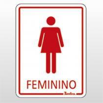 Placa Indicativa 15x20 Feminino Ref 6686 Bemfixa - BEMFIXA