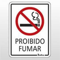 Placa Indicativa 15x20 Proibido Fumar Ref 6682 Bemfixa - BEMFIXA