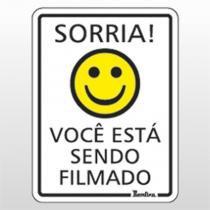 Placa Indicativa 15x20 Sorria você está sendo filmado Ref 6688 Bemfixa - BEMFIXA