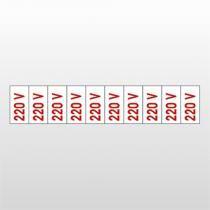 Placa Indicativa 5x25 Placas 220 V Ref 6648 Bemfixa - BEMFIXA