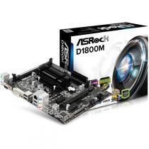 Placa mae asrock micro atx - d1800m - c/ intel celeron dual-core - Asrock