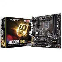 Placa Mae MICRO-ATX GA-AB350M-D3H AMD RYZEN 7 AM4 (REV 1) 4 DIMMS DDR4 - Gigabyte -