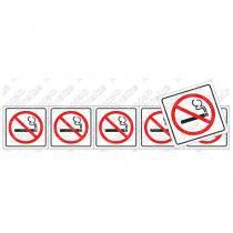 Placa Proibido Fumar 5x25cm Poliestireno 200AU Sinalize - Sinalize