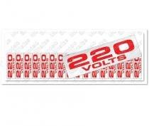 """Placa sinalizadora """"Etiqueta de voltagem 220 V"""" 5 x 25 cm - Sinalize"""