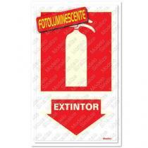 "Placa sinalizadora ""Extintor"" 16 x 23cm - Sinalize"