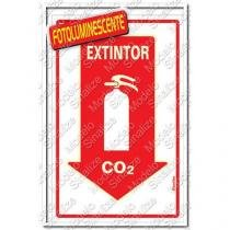 "Placa sinalizadora ""Extintor C02"" 20 x 30cm - Sinalize"