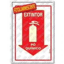 "Placa sinalizadora ""Extintor Pó Quimico"" 20 x 30cm - Sinalize"