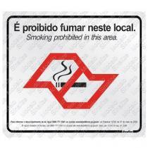 "Placa sinalizadora ""Lei anti fumo sp"" 7 x 10 cm 2 unidades - Sinalize"