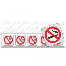 "Placa sinalizadora ""Proibido Fumar"" 5 x 25 cm - Sinalize"