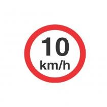 Placa Velocidade Máxima Permitida 10km/h 45x45cm Poliestireno 300AK Sinalize -