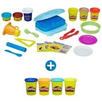 Play-Doh Kitchen Creations Café da Manhã - Hasbro + Massinha Play-Doh Classic Color